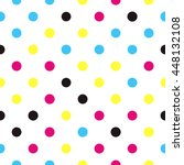 seamless polka dot pattern with ... | Shutterstock .eps vector #448132108