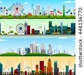 seamless skyscraper building... | Shutterstock .eps vector #448136770