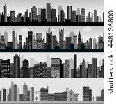 seamless skyscraper building... | Shutterstock .eps vector #448136800
