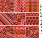 set of abstract background  9... | Shutterstock .eps vector #448139023