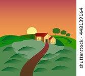 farm with the house  barn and