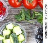healthy food  vegetable salad....