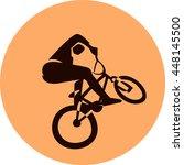 vector bicycle racer | Shutterstock .eps vector #448145500