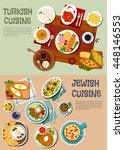 jewish and turkish cuisine with ... | Shutterstock .eps vector #448146553