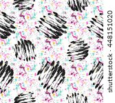 seamless pattern with grunge... | Shutterstock .eps vector #448151020