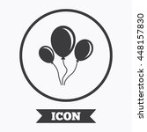 balloon sign icon. birthday air ... | Shutterstock .eps vector #448157830