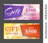 gift voucher template. can be... | Shutterstock .eps vector #448161964