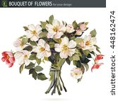 beautiful bouquet of blossoming ... | Shutterstock .eps vector #448162474