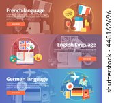 foreign languages learning... | Shutterstock .eps vector #448162696