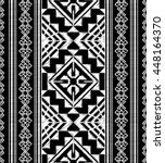 ethnic embroidery doodle ... | Shutterstock .eps vector #448164370