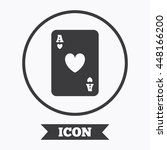 casino sign icon. playing card...   Shutterstock .eps vector #448166200