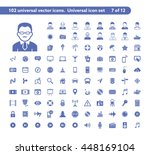 102 universal vector icons. the ... | Shutterstock .eps vector #448169104