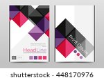 geometric brochure front page ... | Shutterstock .eps vector #448170976