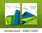 a4 front page business identity ... | Shutterstock .eps vector #448171000