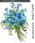 beautiful bouquet of blossoming ... | Shutterstock .eps vector #448171690