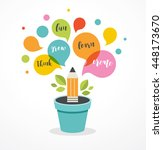 growing idea   education ... | Shutterstock .eps vector #448173670