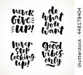 vector set of lettering phrase. ... | Shutterstock .eps vector #448178404