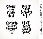 vector set of lettering phrase. ... | Shutterstock .eps vector #448178419