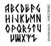 modern vector runic style hand... | Shutterstock .eps vector #448178980