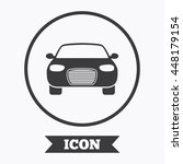 car sign icon. delivery... | Shutterstock .eps vector #448179154