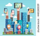 city transportation it... | Shutterstock .eps vector #448180039