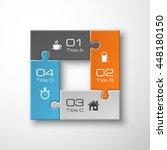 four piece puzzle business... | Shutterstock .eps vector #448180150