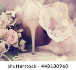 beautiful luxury bouquet and... | Shutterstock . vector #448180960