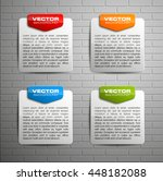 information infographic... | Shutterstock .eps vector #448182088