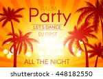 beach party background with... | Shutterstock .eps vector #448182550