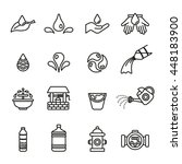 water icons set. | Shutterstock .eps vector #448183900