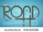 design road   street template... | Shutterstock .eps vector #448185088