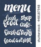 vector hand drawn lettering for ... | Shutterstock .eps vector #448187548