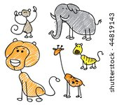 Doodle Wild Animals