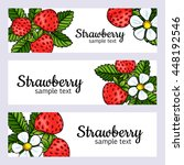 strawberry banners set | Shutterstock .eps vector #448192546