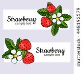 strawberry banners set | Shutterstock .eps vector #448192579