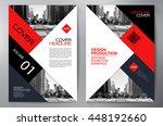 business brochure flyer design...   Shutterstock .eps vector #448192660