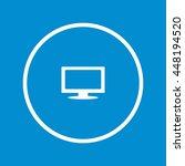 computer display icon | Shutterstock .eps vector #448194520