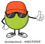 tennis ball faceless cartoon...   Shutterstock .eps vector #448195909