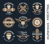 skateboarding emblems in color... | Shutterstock .eps vector #448197466