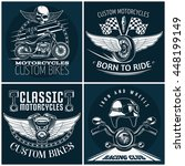 Motorcycle Detailed Emblem Set...
