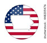 iowa state of america badge... | Shutterstock . vector #448205476