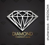 3d diamond shape logo   vector... | Shutterstock .eps vector #448206244