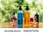 body care product shower and... | Shutterstock . vector #448207696