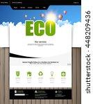 green eco website template...