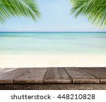 empty wooden planks with blur... | Shutterstock . vector #448210828