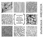 hand drawn textures and brushes.... | Shutterstock .eps vector #448218124