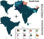 vector of political map of... | Shutterstock .eps vector #448219138