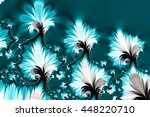 Blue Fractal Flowers In Pretty...