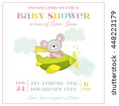 baby shower or arrival card.... | Shutterstock .eps vector #448223179
