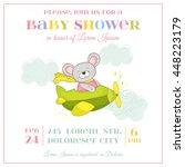 baby shower or arrival card.... | Shutterstock .eps vector #448223179